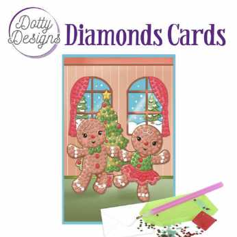 Diamond Cards Gingerbread Dolls