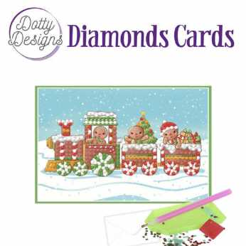 Diamond Cards Christmas Train