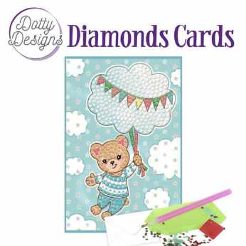 Diamond Cards Blue Baby Bear