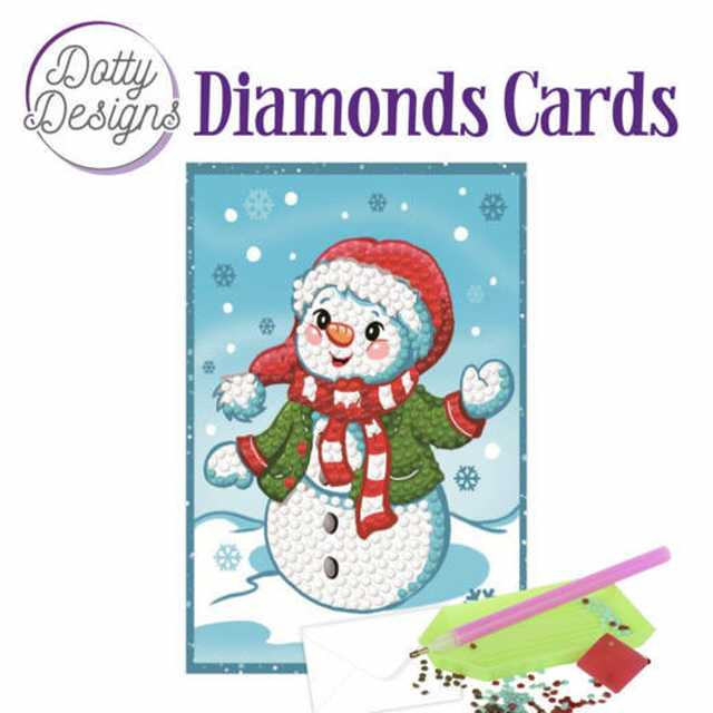 Diamond Cards Happy Snowman