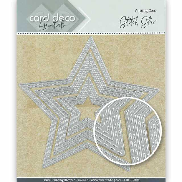 Card Deco Stanze Stitch Star