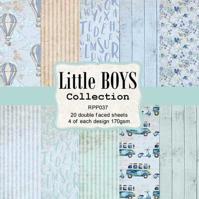 Reprint Paper Pack Little Boys 6x6""