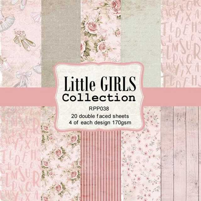Reprint Paper Pack Little Girls 6x6""