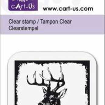 cArt-Us Clear Stamp Rentier, X-Mas Greetings klein