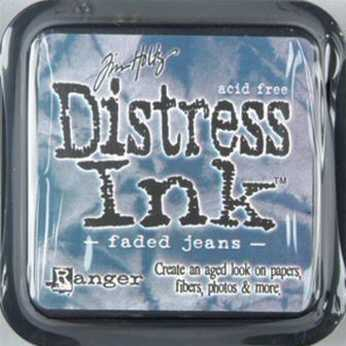 Distress Ink faded jeans