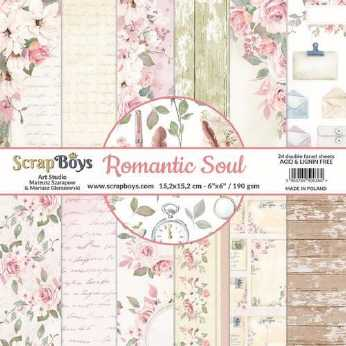 ScrapBoys Papierblock Romantic Soul 6x6""