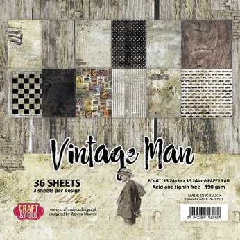 Craft & You Design Paper Pad Man´s World 12x12