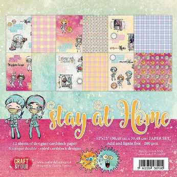 Craft & You Design Paper Pad Vintage Man 6x6