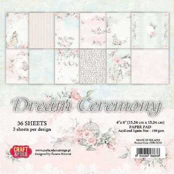 Craft & You Design Paper Pad Stay at Home 6x6""