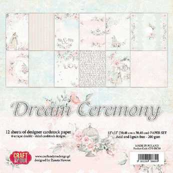 Craft & You Design Paper Pad Stay at Home 12x12""