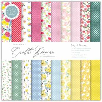 Craft Consortium Papierblock Bright Blooms 12x12""