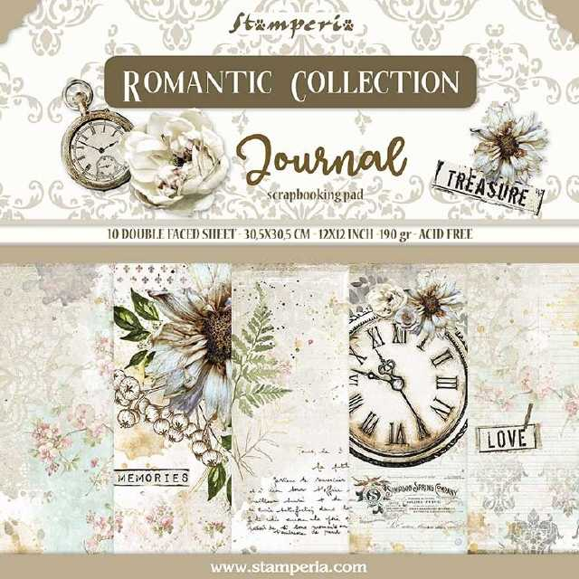 Stamperia Paper Pad Romantic Coll. Journal 12x12""