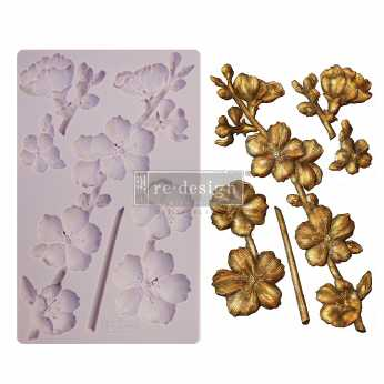 Prima re-design Decor Moulds Botanical Blossoms