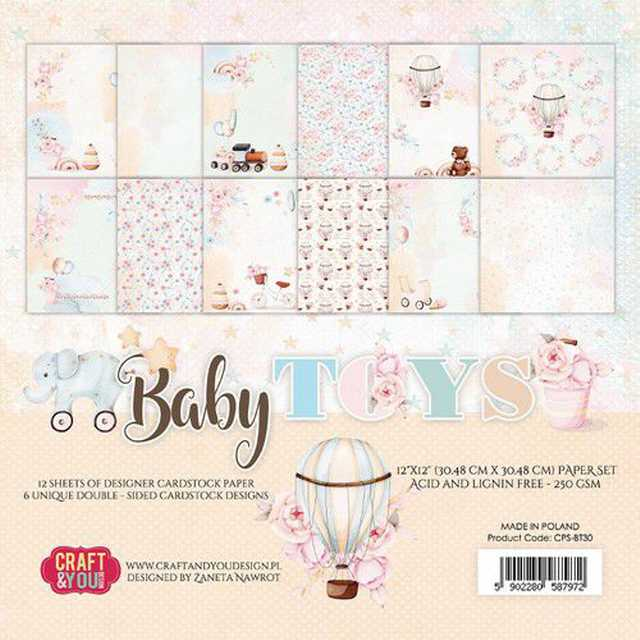 Craft & You Design Paper Pad Baby Toys