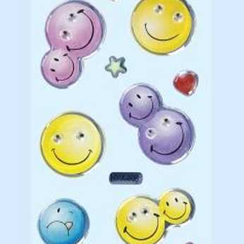 Kid´s Glossy-Stickers Smily 1