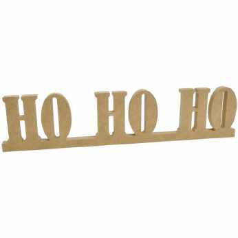MDF Ho, Ho, Ho Standing Words