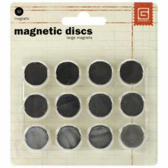BasicGrey large magnetic discs strong