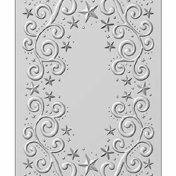 Nellie´s 3D Embossing Folder Cross with Lilies