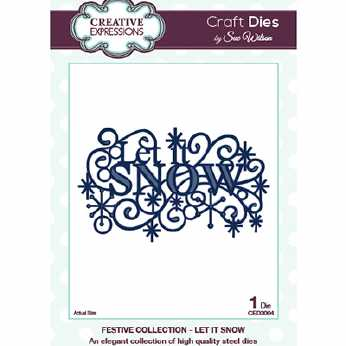 Creative Expressions Stanze Let it Snow