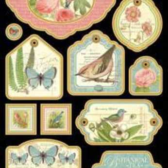 Graphic 45 Botanical Tea Chipboard 2